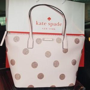 Kate Spade Pink Polka Dot Haven Lane Purse